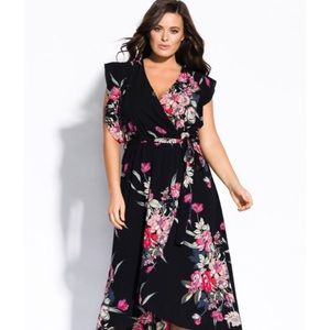 City Chic Misty Floral Maxi Dress